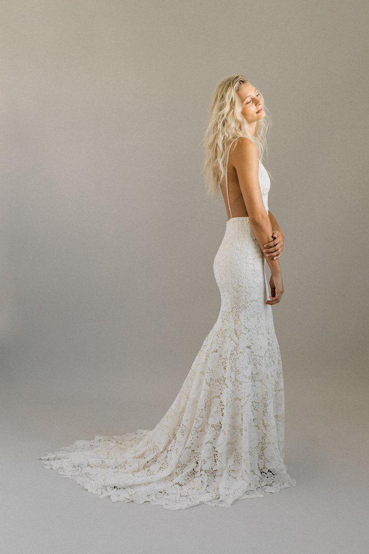 47++ Spaghetti strap low back lace wedding dress ideas in 2021