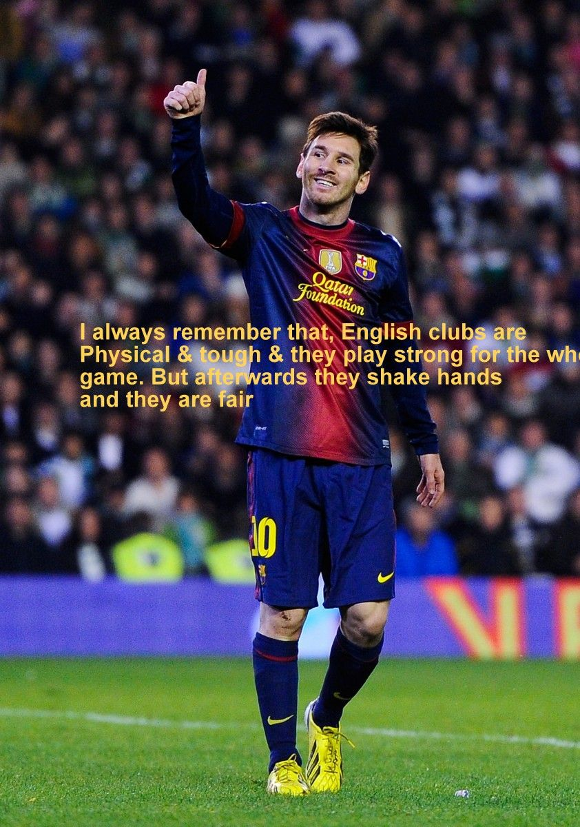 Attractive Lionel Messi Quotes On Football With Wallpapers