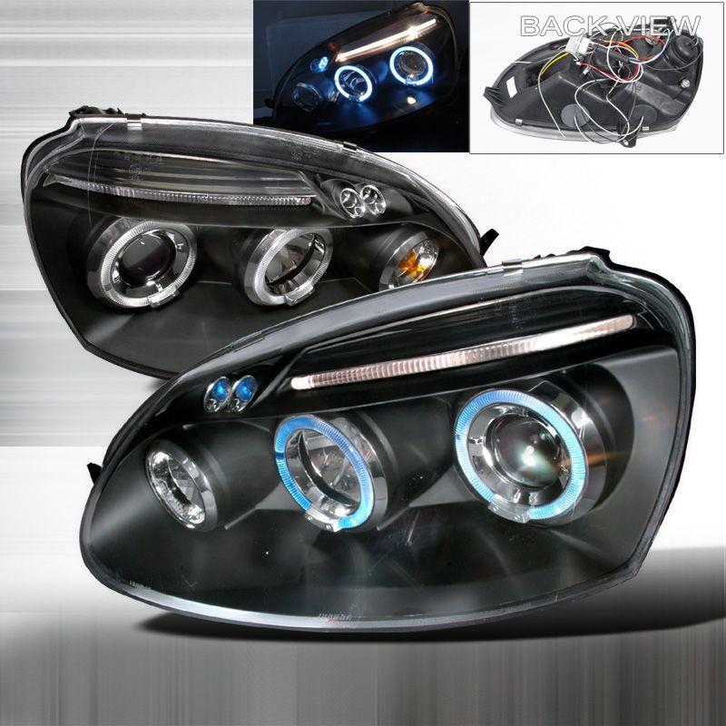 Volkswagen Jetta 2006 2008 Black Halo Projector Headlights W Led S