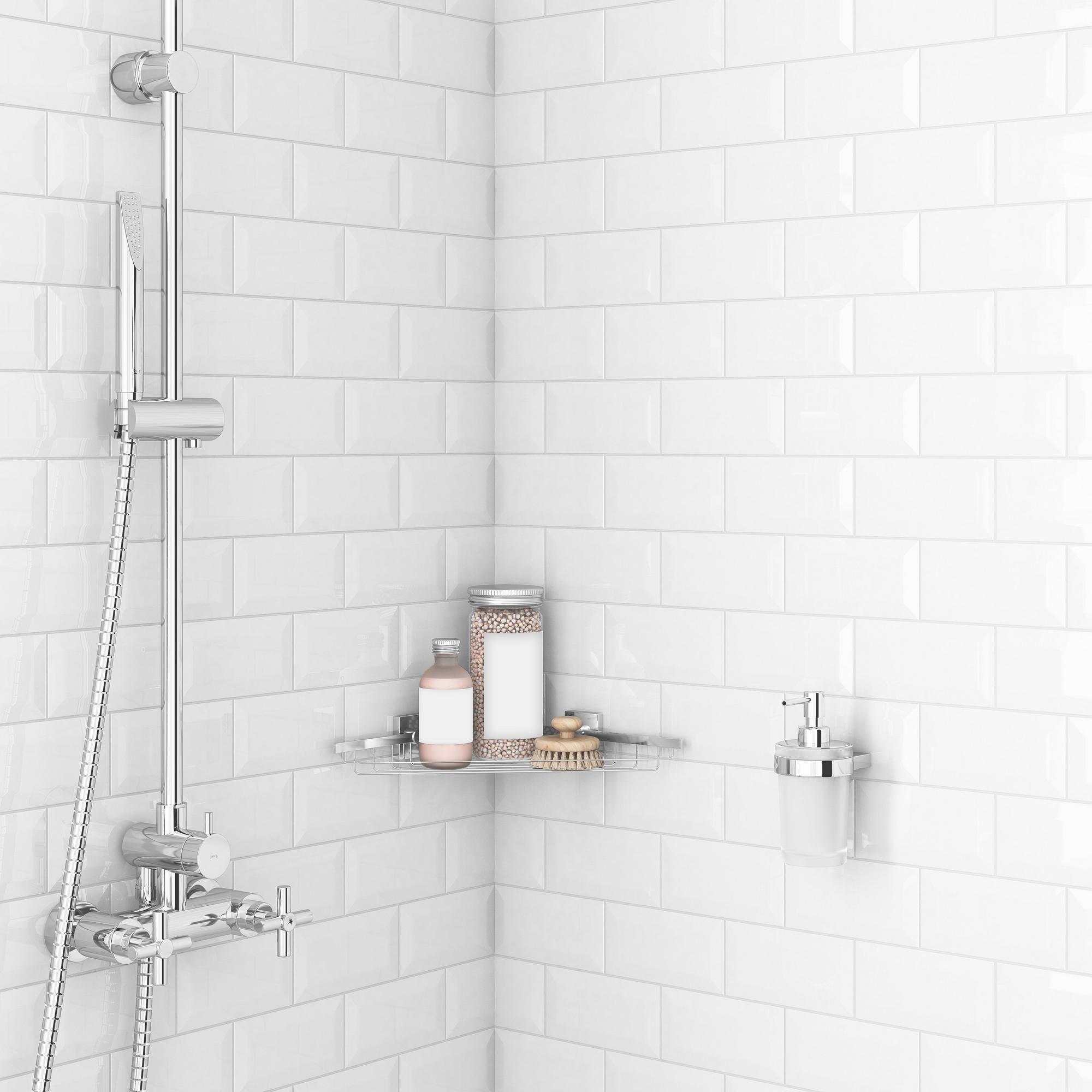 Bright White Ice Beveled Ceramic Wall Tile Floor Decor Ceramic Wall Tiles Mold In Bathroom Bathroom Wall Tile