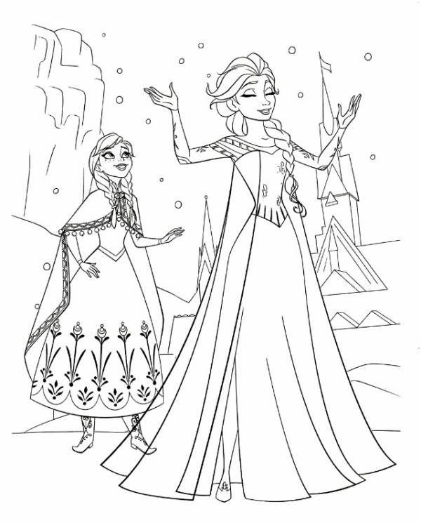 アナと雪の女王(FROZEN)ぬりえ・2 SISTERS FOREVER - ミツキ・MA・ウスの小さな世界 ...