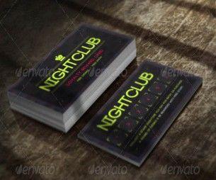 Nightclub Loyalty Card Template Loyalty Card Template Cool Business Cards Business Card Inspiration