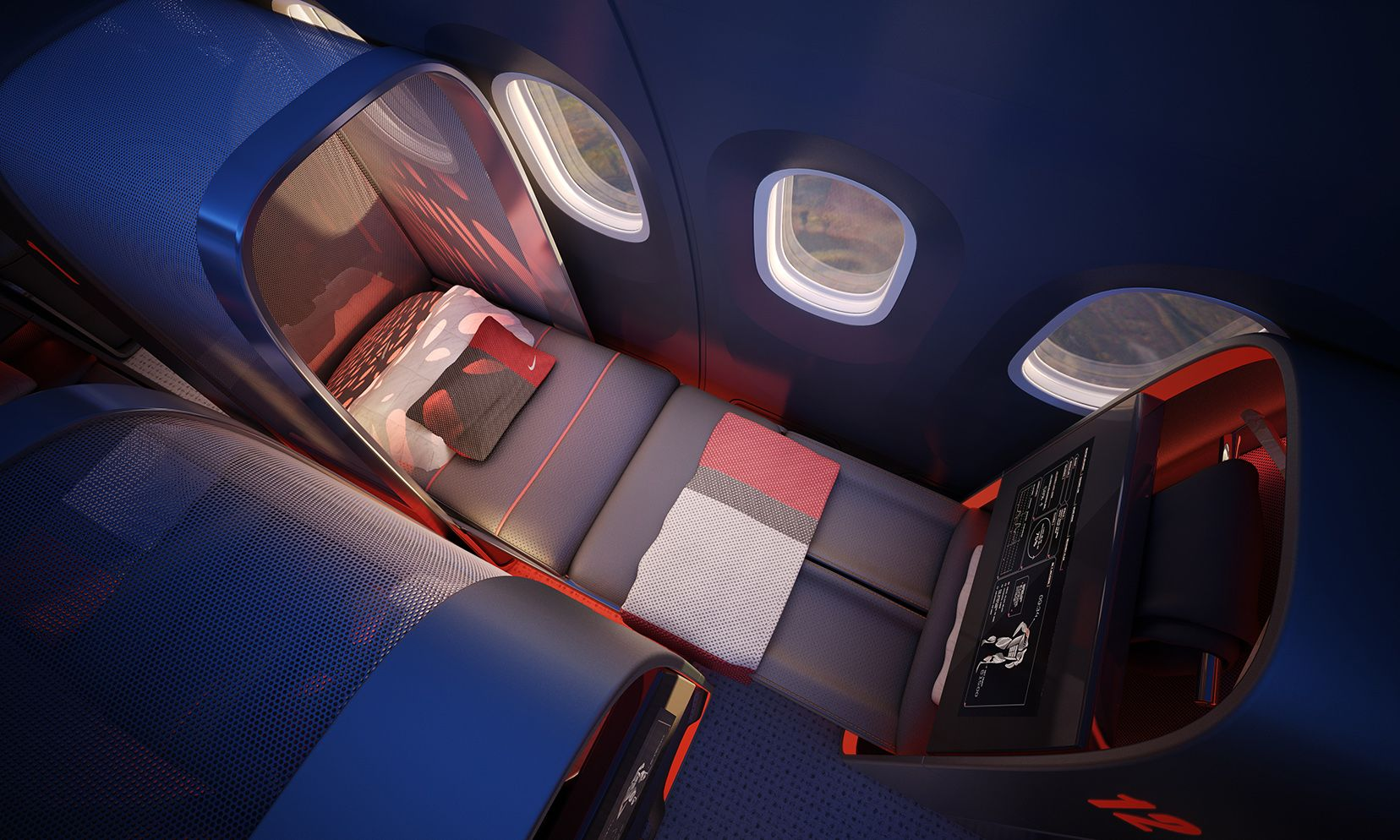 """Nike's """"Ultimate Private Jet"""" Nike & the design firm"""