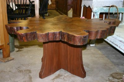 They make these here with cypress trees. this for a coffee table.