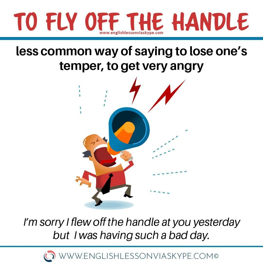 Englishskype Posted To Instagram Another Common Way To Say To Lose One S Temper In English Is To Hit The Teach Me English Idioms And Phrases English Lessons