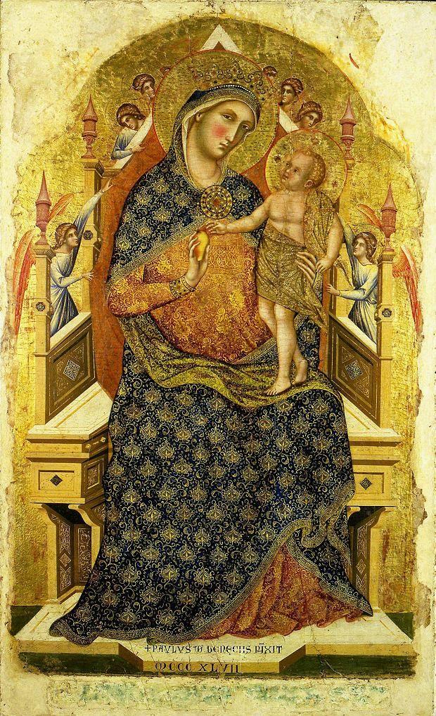 Paolo Veneziano, Matka Boska z Dzieciątkiem, połowa XIV w ...