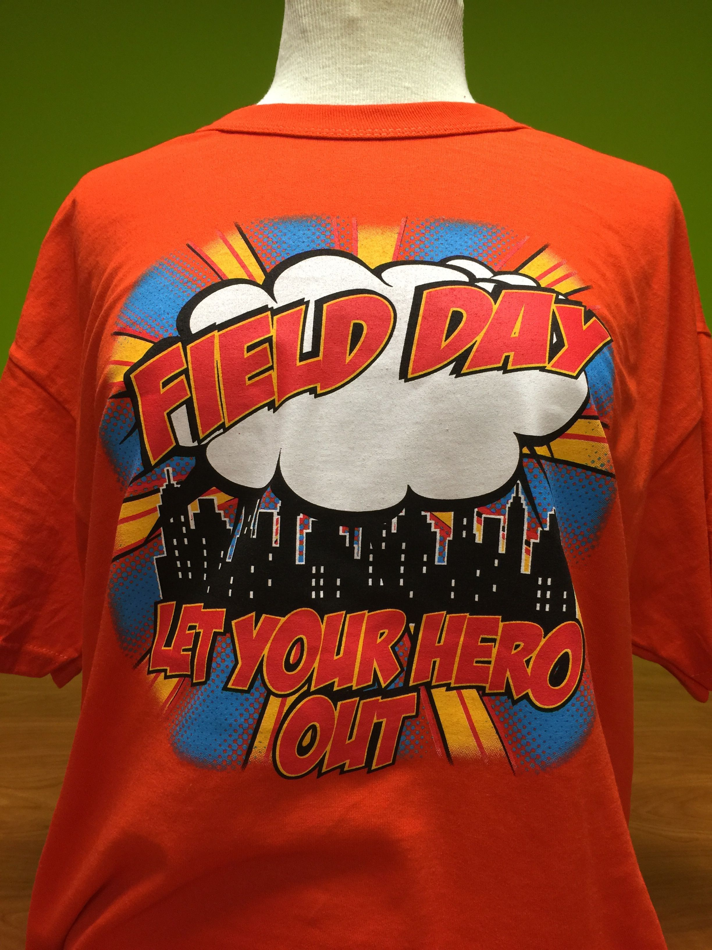 Super hero themed field day field day t for Field day t shirts