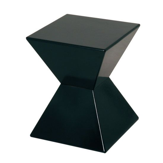 Kinda modern but still somehow fits the art deco theme edge funky end table in black high gloss lacquered 9594 shop our huge range of side tables and with so many styles available you can be sure we have mozeypictures Images