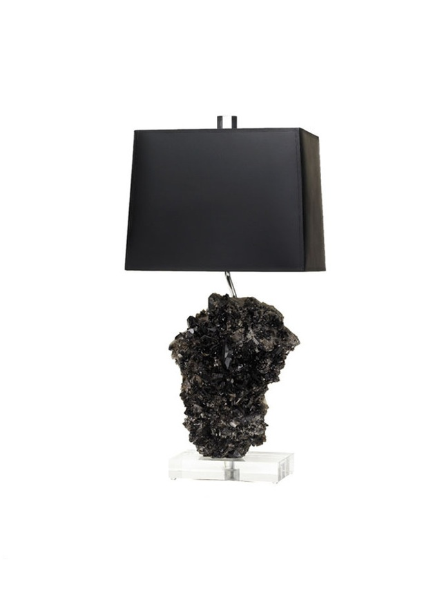Black Crystal Rock Lamp By Brenda Houston. #cleverlife