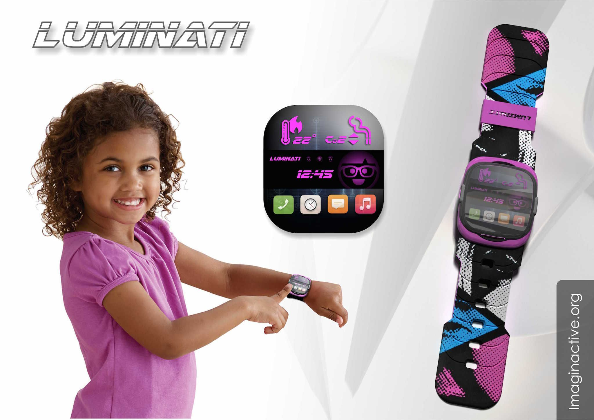 The Luminati is a smart watch designed to keep an eye on your young children at all times around the house. It functions as a sort of a guardian angel wearable device that can be used a help you make parenting decisions based on real-time facts.
