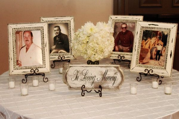 Memory Table Ideas wedding memorial ideas 25 best ideas about wedding remembrance on pinterest wedding memorial memorial at wedding Honoring Deceased Loved Ones During Wedding Celebrations A Table Of Remembrance Can Be A Nice Touch