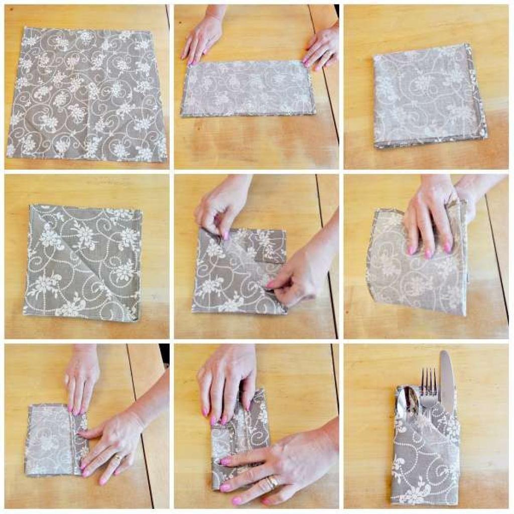 Pliage Serviette Facile Range Couverts 12 façons simples de plier vos serviettes avec originalité