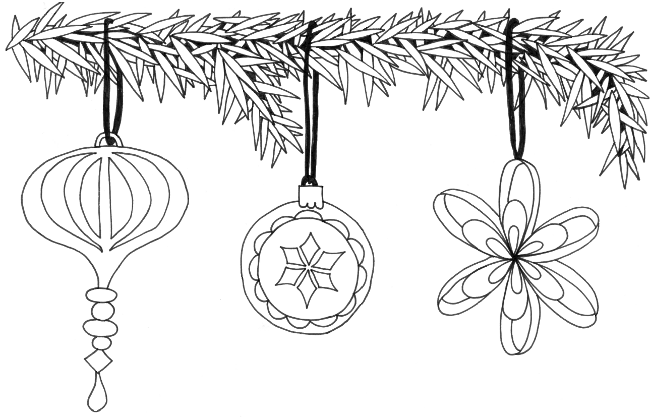 Hand drawn coloring page - Christmas ornament #coloring #christmas ...