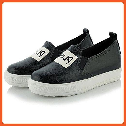Women's Sneaker Platforms High Heel Wedge Slip On Moccasins White Black Shoes