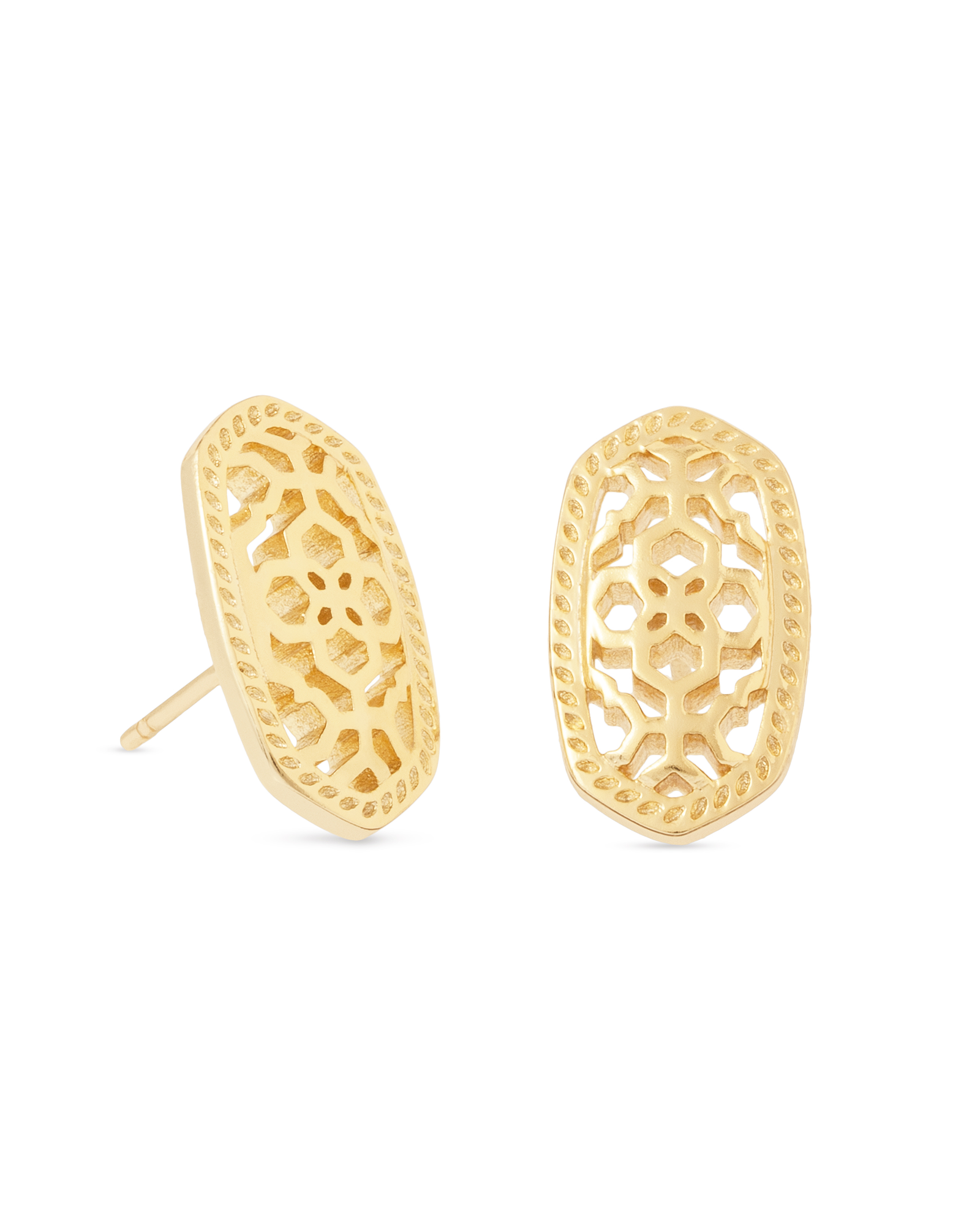 Ellie/Bryant Stud Earrings in Gold Filigree | finishing touches ...