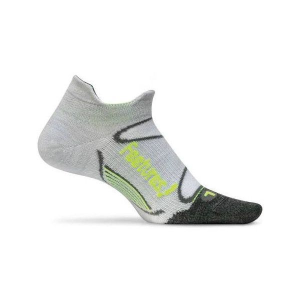Feetures! Elite Merino+ Ultra Light Cushion No Show Tab Silver-Reflector