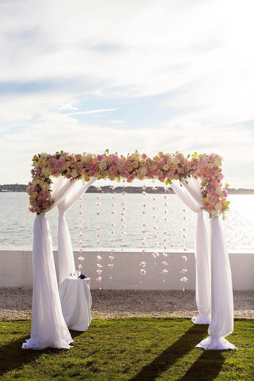 A Classic Belle Mer Rhode Island Wedding Wedding Ceremony