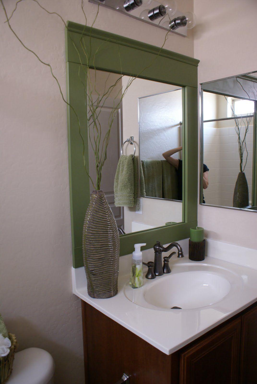 bathroom mirror makeover home diy pinterest