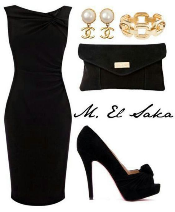 Black party dress accessories
