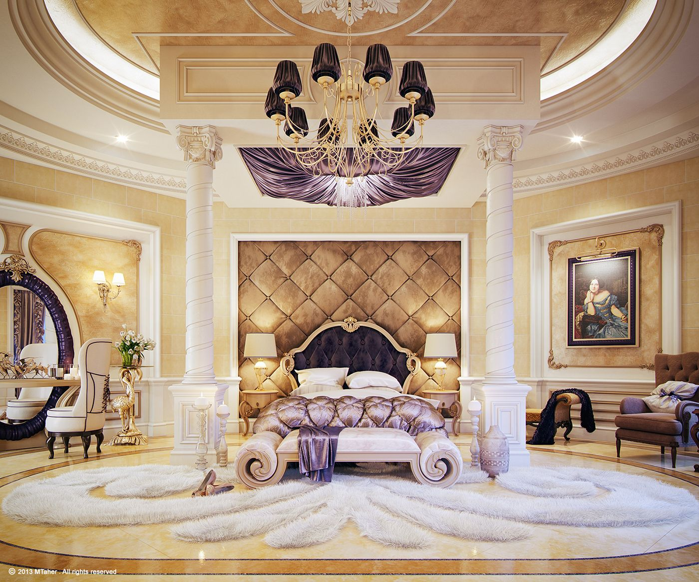 Get Inspired By These Gold And Royal Bedrooms For Your Master Decoration Gold Royal Bedroomdecoration Go Luxury Bedroom Master Royal Bedroom Fancy Bedroom