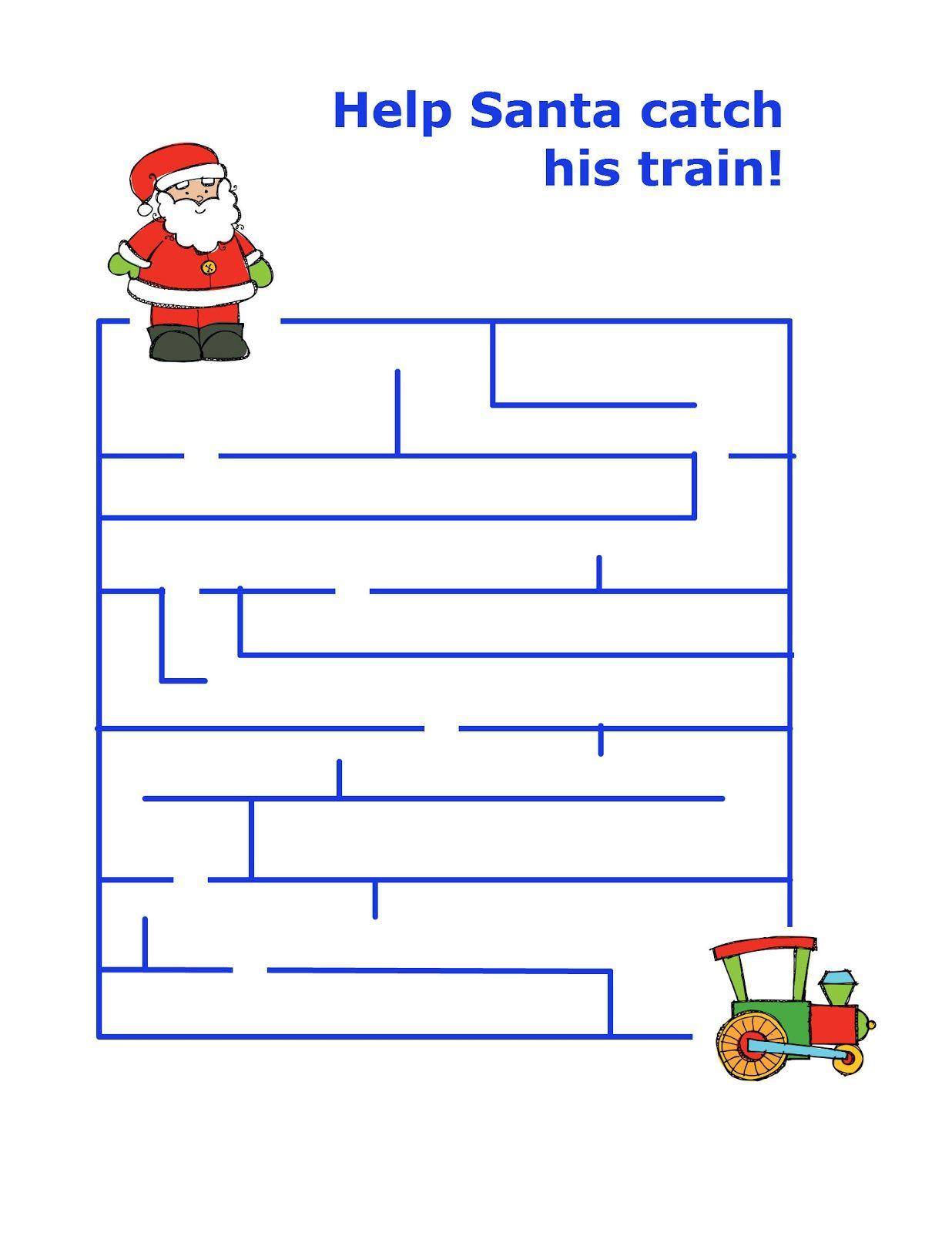 Christmas Preschool Packet 3 Day Freebie
