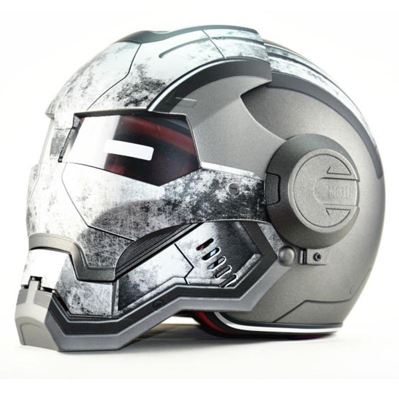 108.90$  Watch now - http://ali64n.worldwells.pw/go.php?t=32752096545 - Tactical Masei War Machine Gray IRON MAN Iron Man helmet motorcycle helmet half helmet open face helmet ABS casque motocross