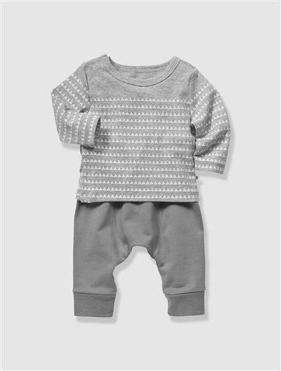 Conjunto felpa algodón Bio Collection bebé recién nacido GRIS OSCURO ...