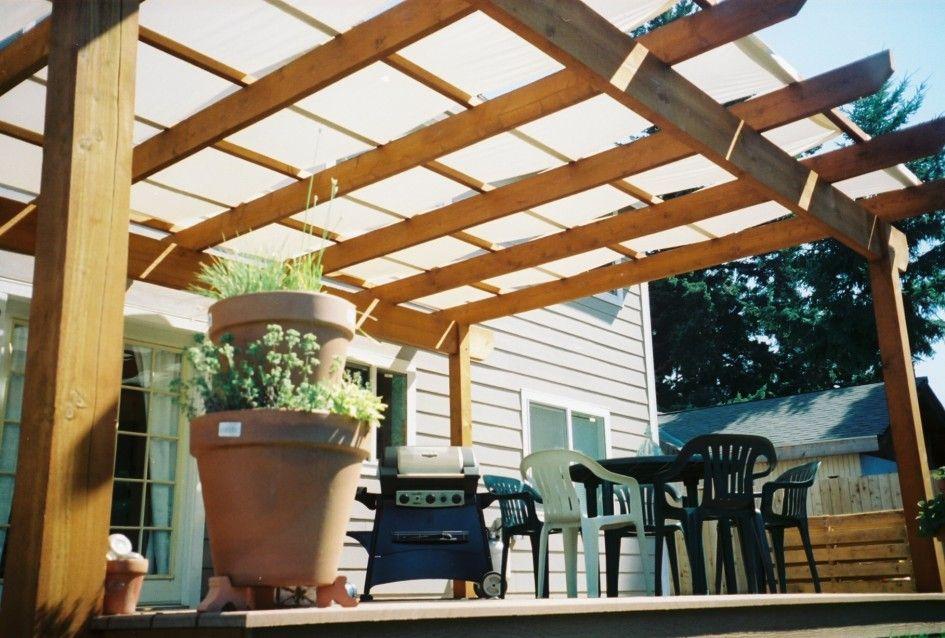 Exterior Oak Wooden Ceiling Pergola Cover With Transparant