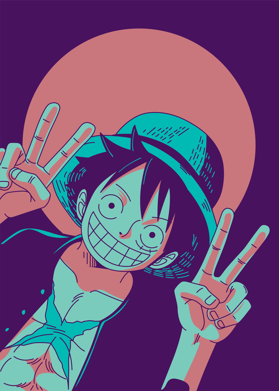 Mugiwara Luffy Anime & Manga Poster Print metal posters