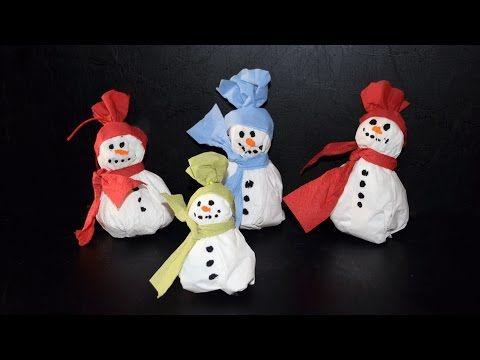 Schneemann Aus Servietten Basteln Für Kinder Christmas