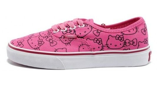 Donna Rosa Vans Tela Sneakers Scarpe Authentic Hermans Hello Kitty gqYw4g5dF