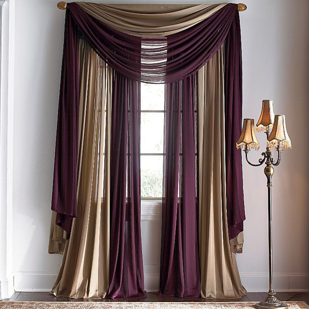 Multiple window scarves curtains cloth pinterest for White curtains design ideas