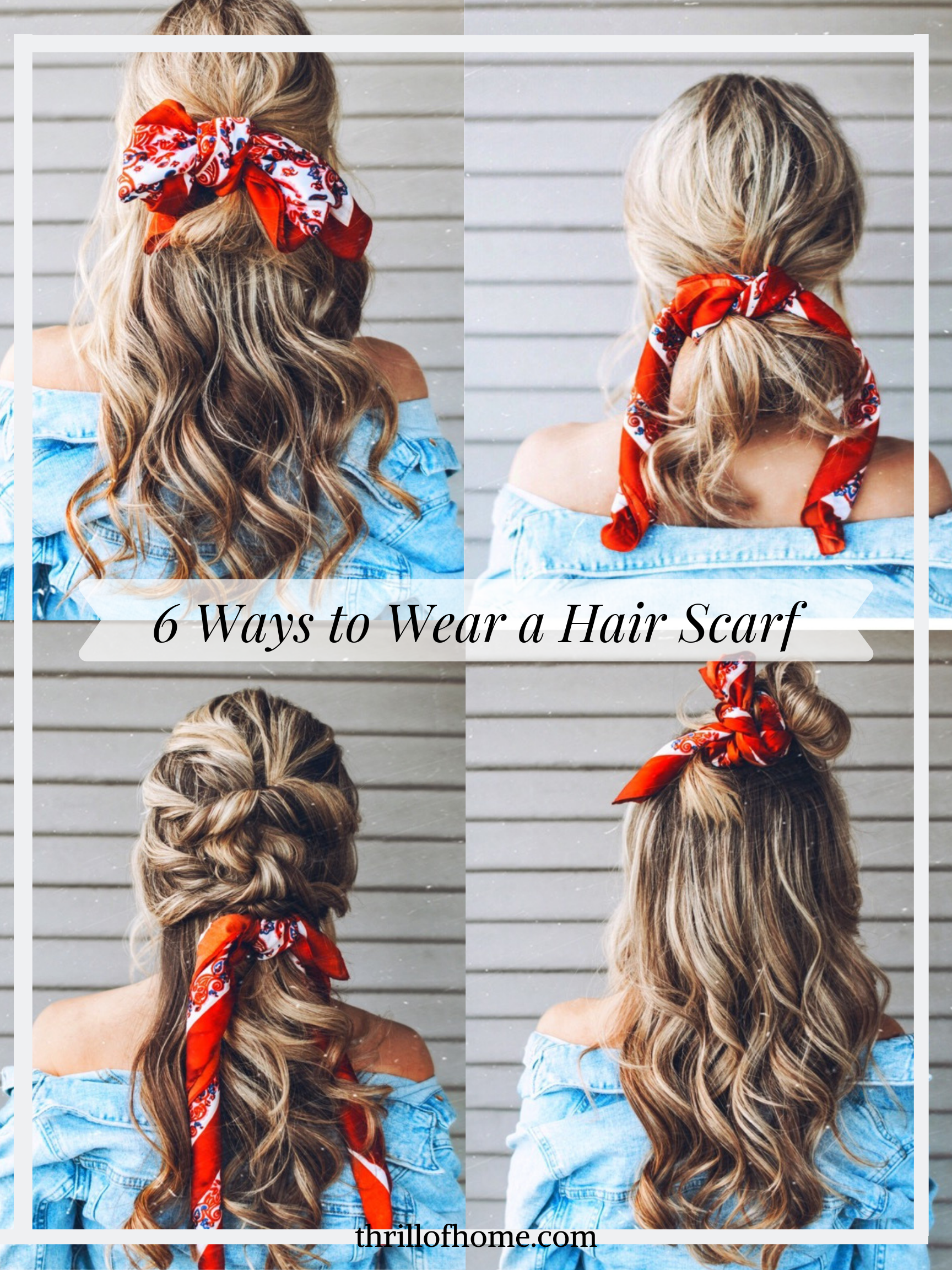 6 Ways To Wear A Hair Scarf Scarf Hairstyles Hair Mom Hairstyles