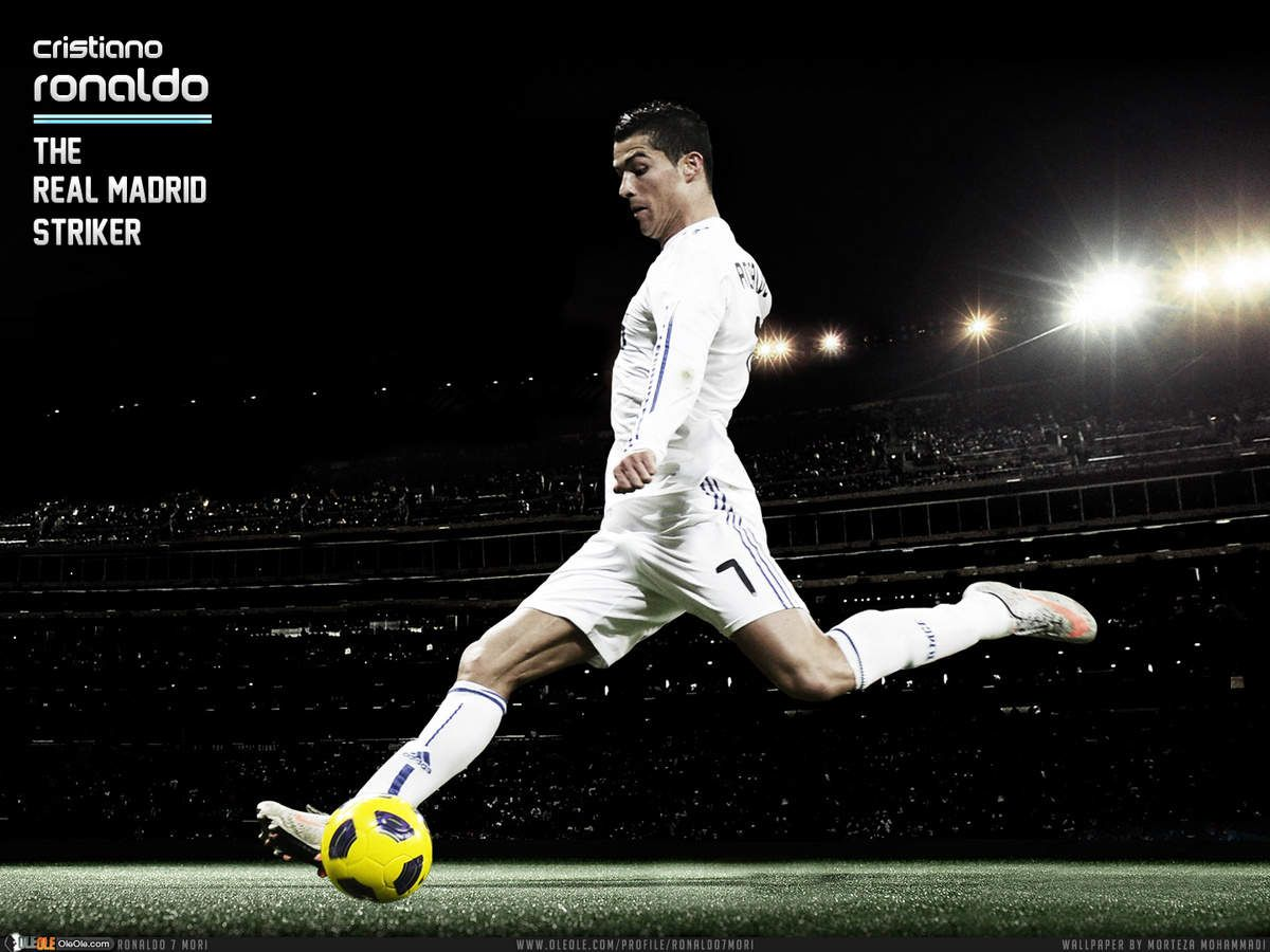 Cr7 Ronaldo Kicking Ball Wallpaper Hd Football Daily Ronaldo Cristiano Ronaldo Ronaldo Football