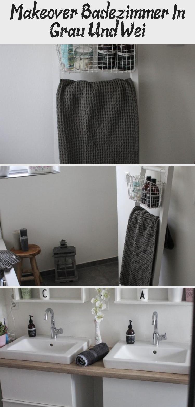 Makeover Badezimmer In Grau Und Weiss Ikea