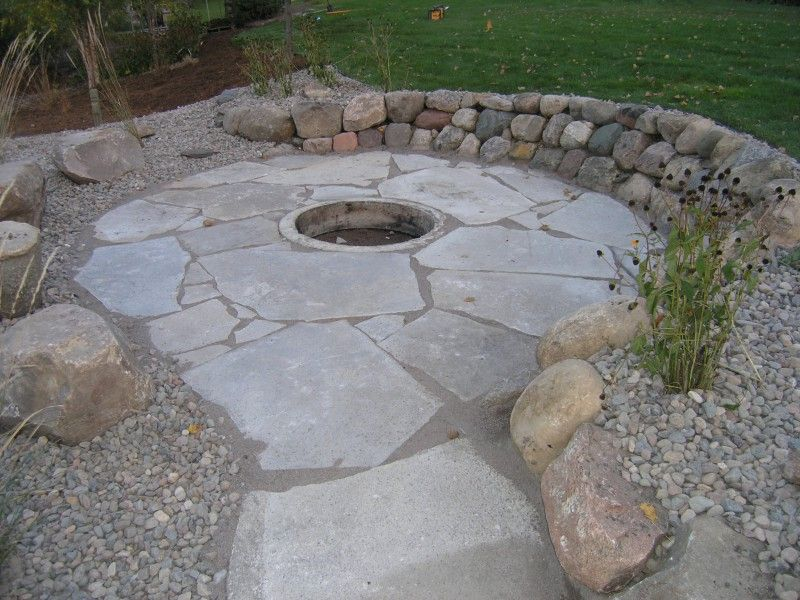 Fire Pits Fond Du Lac Fagstone With Sunken Fire Pit On Lake