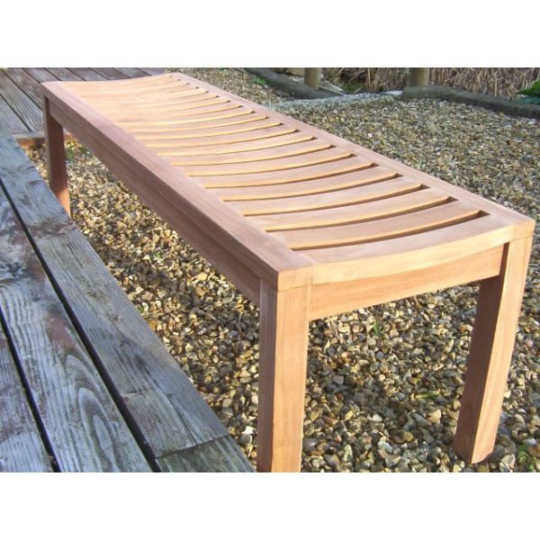 Enjoyable Teak Backless Bench Garden Patio Indoor Outdoor Natural Ncnpc Chair Design For Home Ncnpcorg