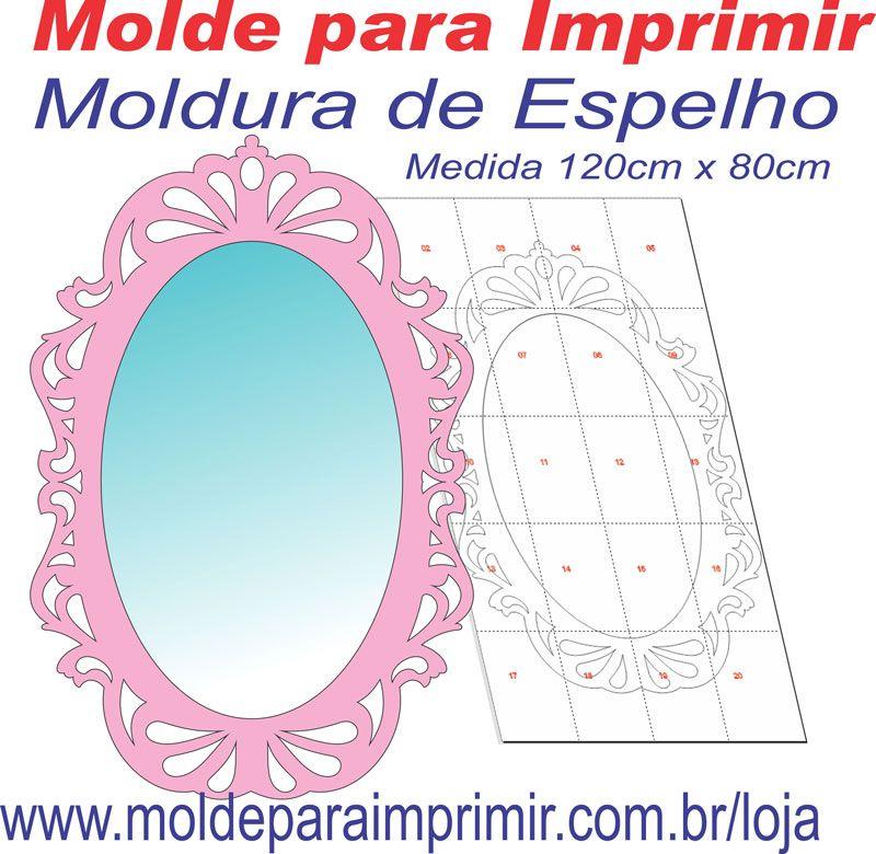 Molde para imprimir de espelho provencal molduras for Molduras para espejos online