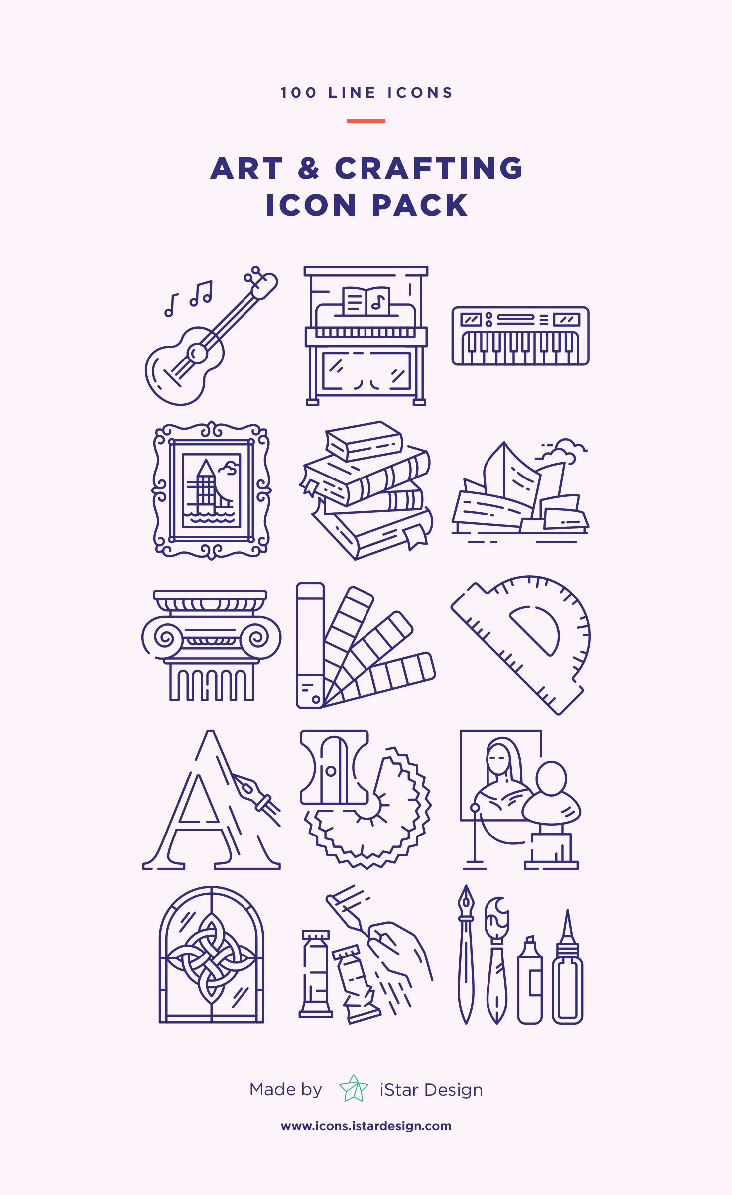 Art And Crafting Icons Set Art Icon Icon Set Icon Design Inspiration