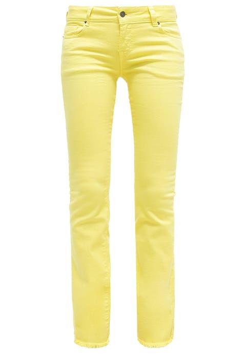 Cimarron GLORIA - Bootcut jeans - lemon yellow licht geel ...