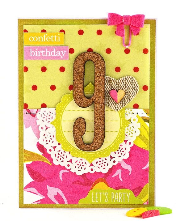 This Girls Birthday Card Marks The Last Year Of Single Digit Birthdays For A 9 Old Girl Decorated In Bright And Cheerful Color Scheme