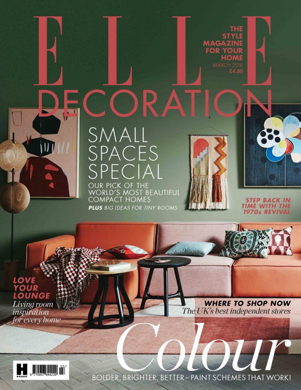 Elle Decoration Uk March 2018 Interior Design Books