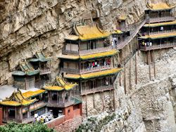 Hanging Heng mountain temple, China