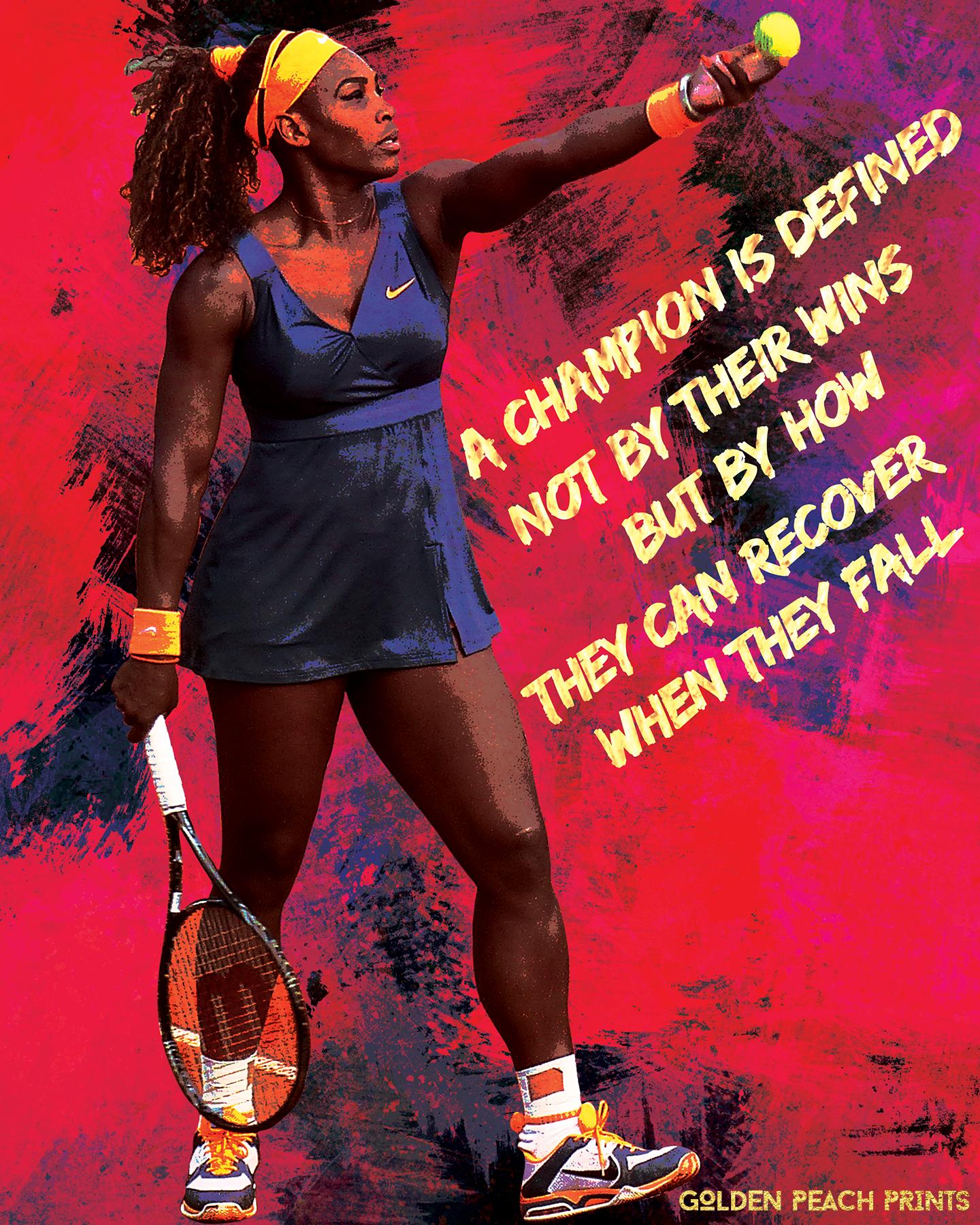 tennis feminist poster serena williams