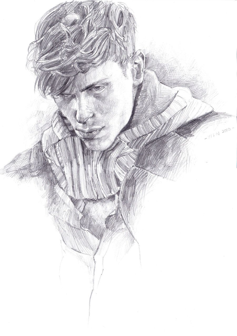 Man With Curly Hair By Blue327 D37jrkb Jpg 900 1273 Guy Drawing Drawings Male Art