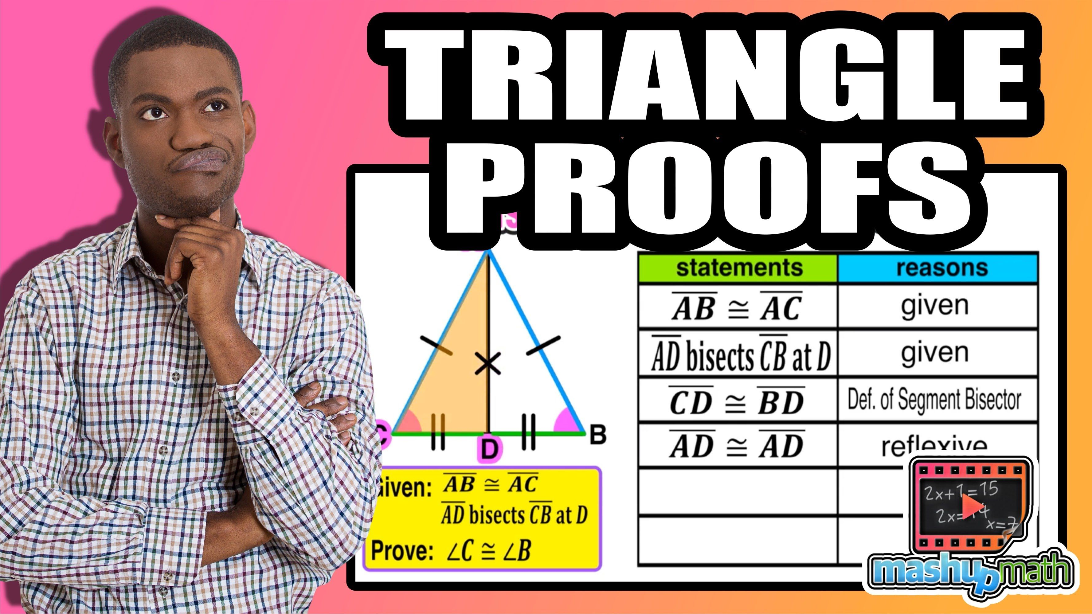 Practice With Geometry Proofs Involving Isosceles