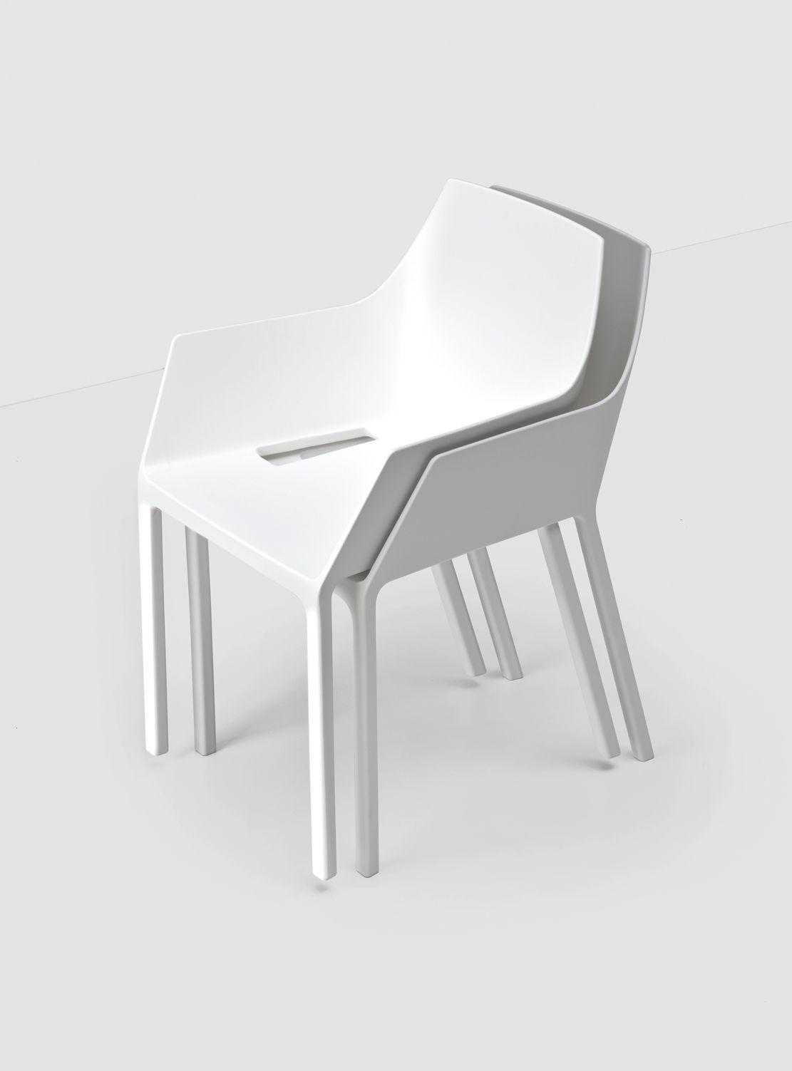 Mem Water Contemporary Chair In White Minimal Design Chair