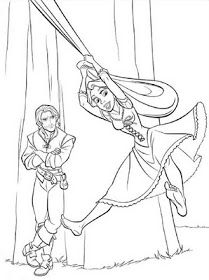 DISNEY COLORING PAGES: TANGLED COLORING PAGES OF DISNEY'S PRINCESS RAPUNZEL