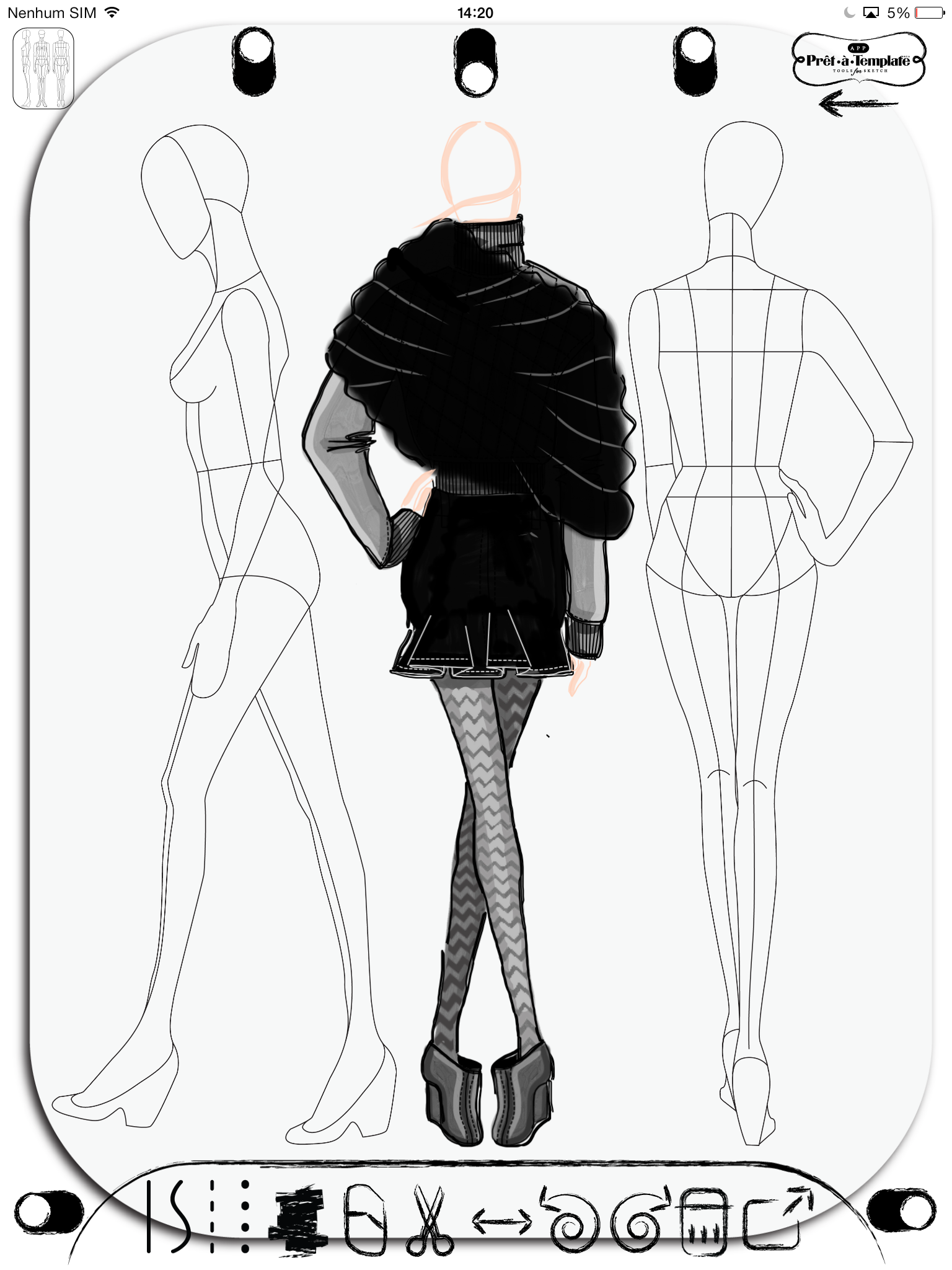 Fashion Sketch App Pret -à- Template (Free Download Available on the