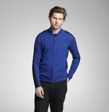 Long-sleeve Zip Front Sweater. Kenneth Cole Reaction.
